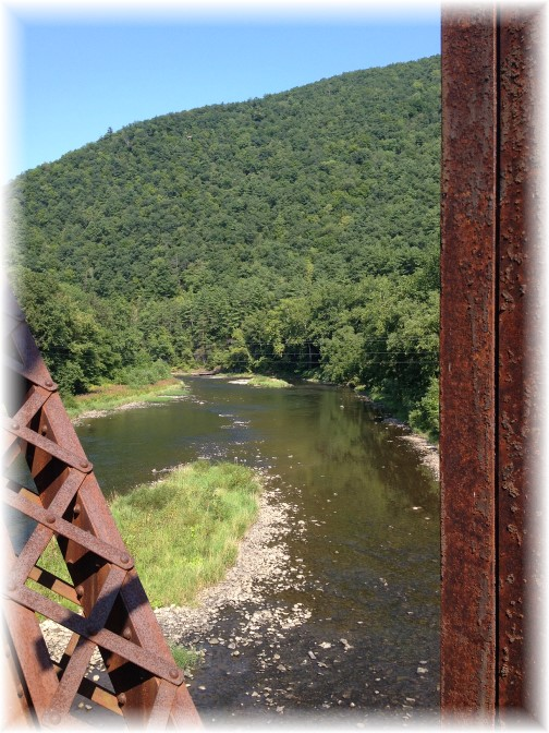 Cedar Run railroad bridge on Pine Creek rail trail 8/16/15