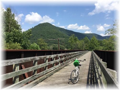 Railroad bridge on Pine Creek rail trail near Blackwell 8/16/15