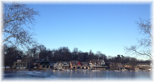 Boathouse row in Philadelphia (Click on photo for larger view)
