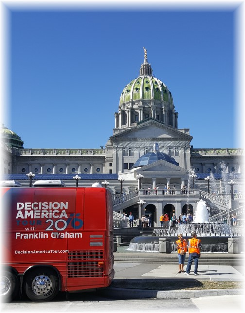 Decision America prayer rally, Harrisburg, PA 9/15/16