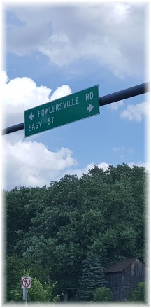Easy Street sign near Bloomsburg, PA 6/28/17