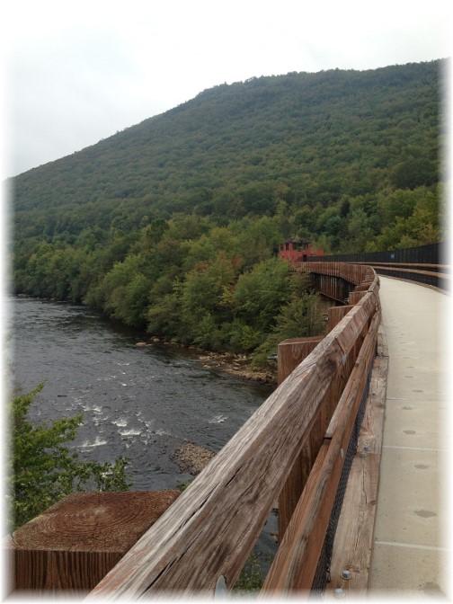 Lehigh River rail trail, Poconos 9/18/15