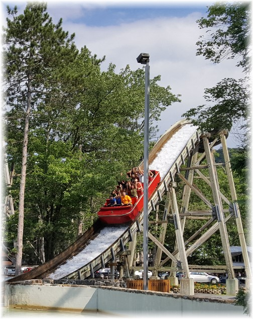 Sklooosh ride at Knoebels Park, Columbia County, PA 7/4/17