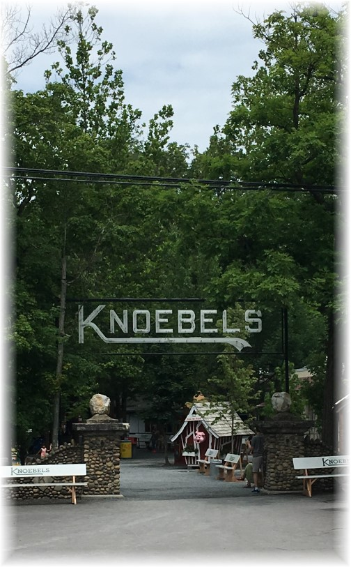 Knoebels Park sign, Columbia County, PA 7/4/17
