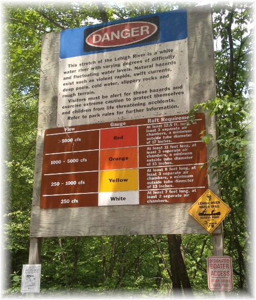 Warning sign for rafters