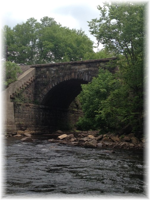 Lehigh River Gorge railroad bridge, Poconos, PA 5/30/15