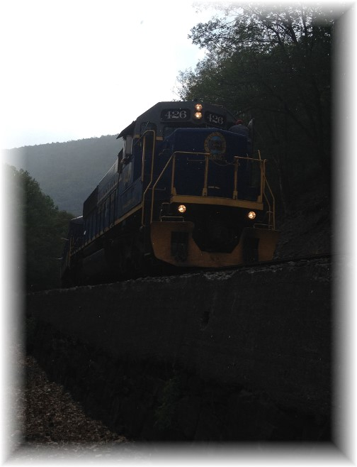 Lehigh River Gorge train, Poconos, PA 5/30/15