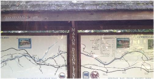 Mason-Dixon Line along York Heritage Rail Trail 9/8/15