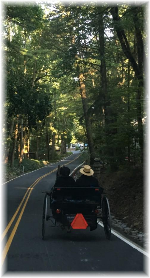 Church traffic near Mount Gretna, PA 9/10/17