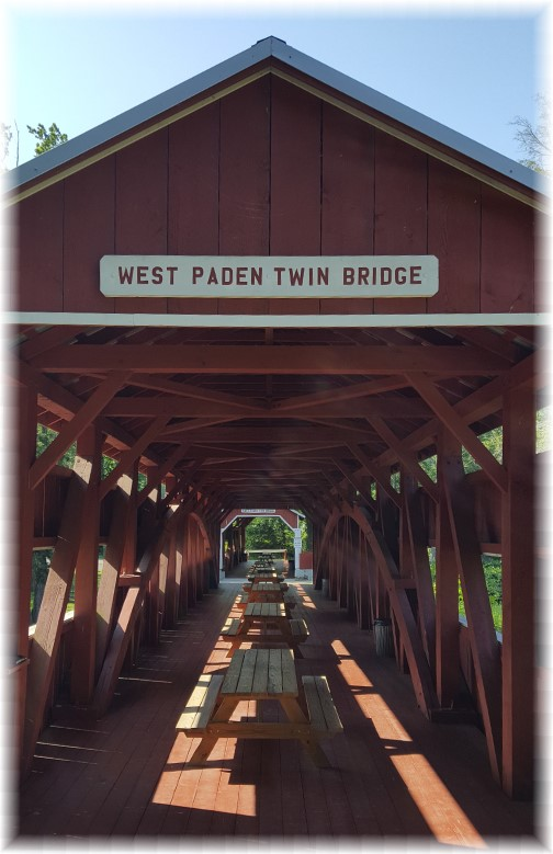 Inside of the Paden twin covered bridges, Columbia County, PA 6/18/17