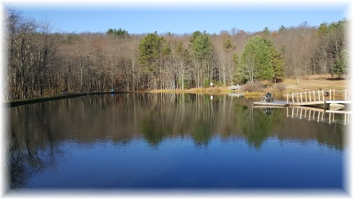 Pocono lake at Twin Pines Camp 11/19/16 (Click to enlarge)