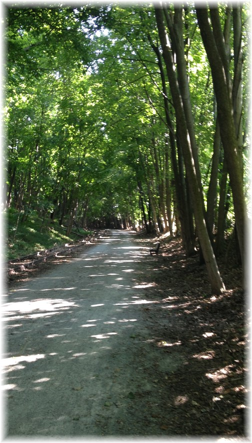 York Heritage Rail Trail near Maryland state line 9/8/15