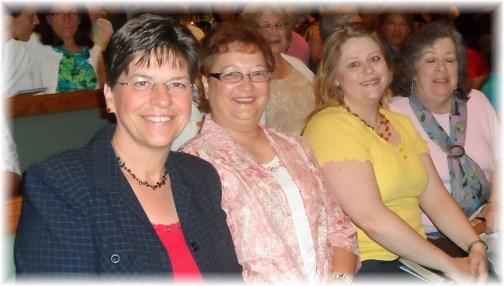 Church friends at Nancy Leigh DeMoss meeting 6/22/13