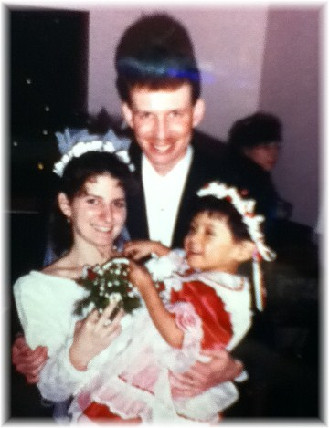 Ester with Mosebargers at wedding 12/18/92