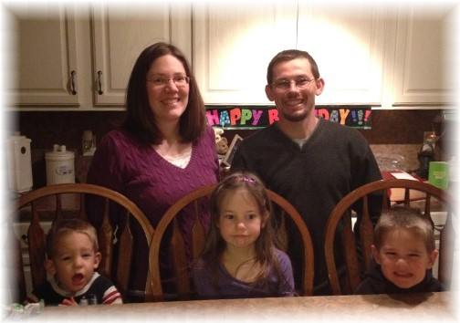 Mike and Joanna Gardner and family 3/13/14