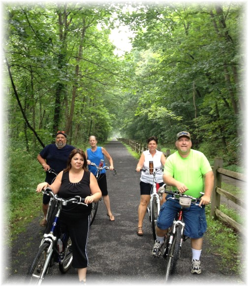 With friends in Lower Bike Trail 7/6/15