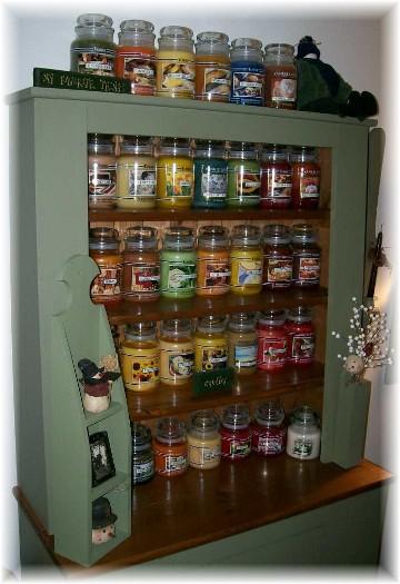 Rachel's Yankee Candle display