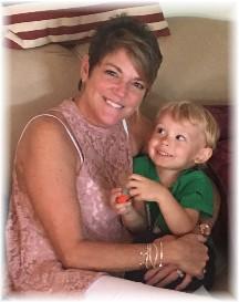 Rachel with grandson