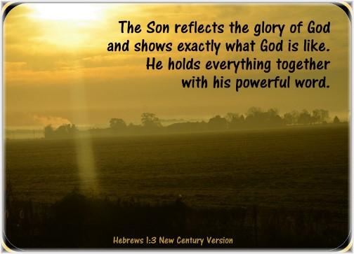 Hebrews 1:3 Photo by Doris High