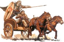 Chariot and horses