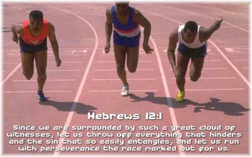 Hebrews 12:1 truck decal