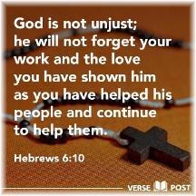 Hebrews 6:10