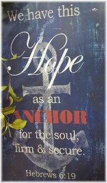 Hebrews 6:19 plaque