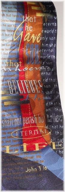 Tie with John 3:16 Scripture verse