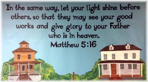 Matthew 5:16 mural