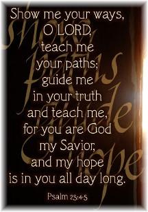 Psalm 25:4,5