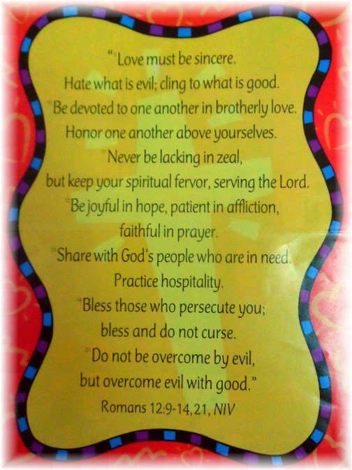 Romans 12 Sunday School poster