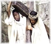 Simon of Cyrene with Jesus