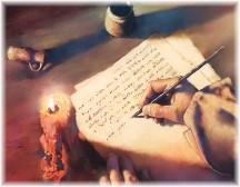 Writing on scroll