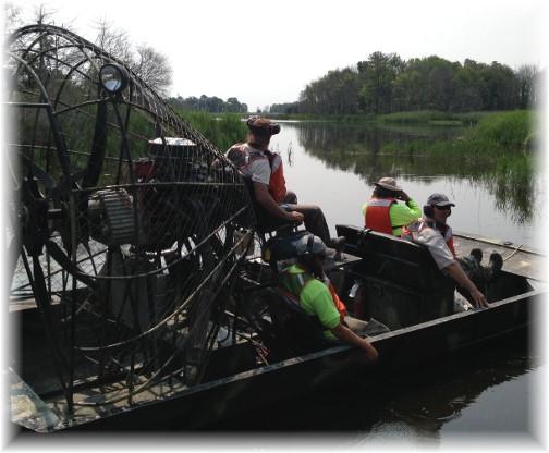 Fan boat at Prime Hook National Wildlife Refuge 6/10/15