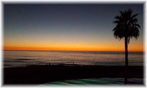 Sunset Cliffs ocean view at dusk 10/20/16