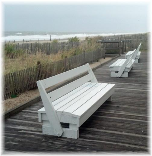 Rehoboth Beach boardwalk benches