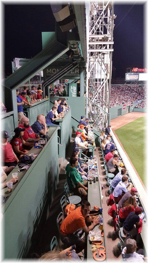 """""""Green monster"""" seating at Fenway Park 6/15/16"""