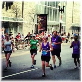 Nikki Higgins in Boston Marathon 2012