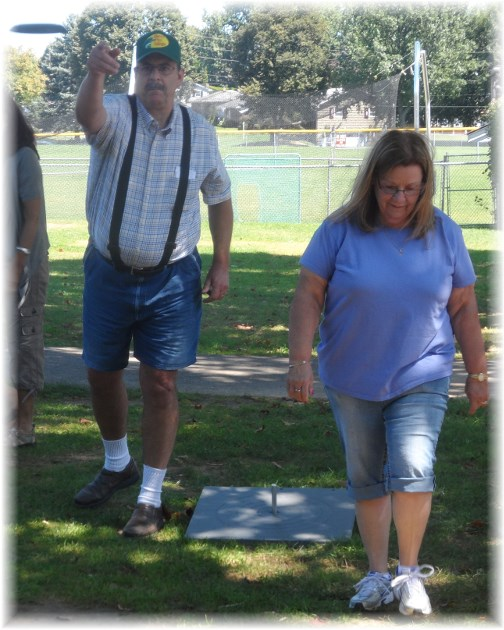 Playing quoits 8/24/13
