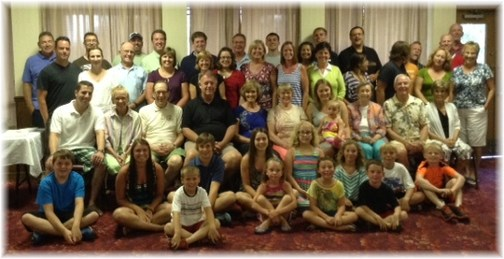 Group photo at Steincross reunion 7/12/13