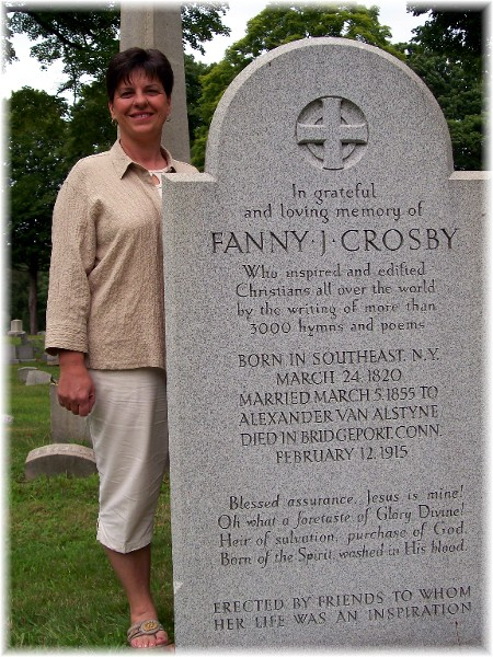 Fanny Crosby tombstone