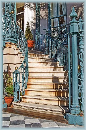 Stairs in Charleston SC (photo by Howard J. Blichfeldt)