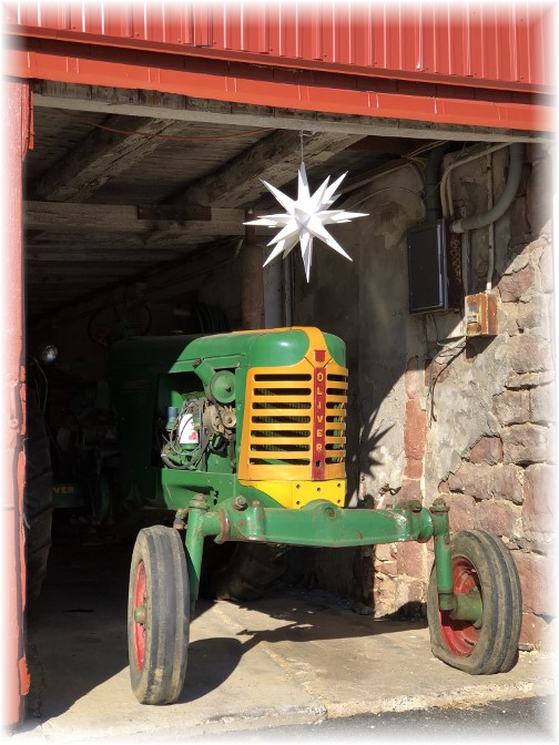 Oliver tractor in Lebanon County barn 1/7/18