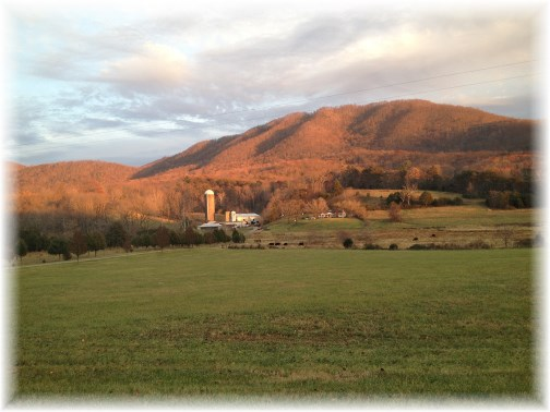 Farm in Blue Ridge mountains (Click to enlarge)