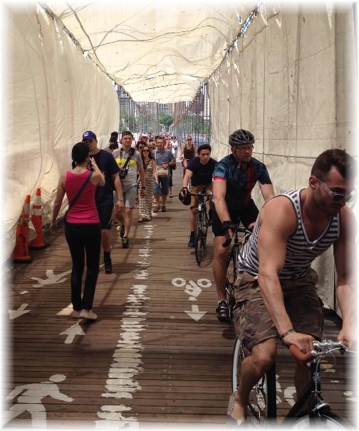 Brooklyn Bridge bike path 5/26/14)