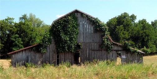 """Oklahoma """"see through barn"""" near Talequah"""