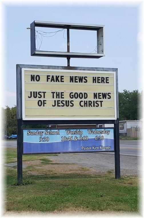 Okay, OK church sign 8/5/17