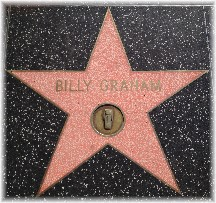Billy Graham star on Hollywood Boulevard
