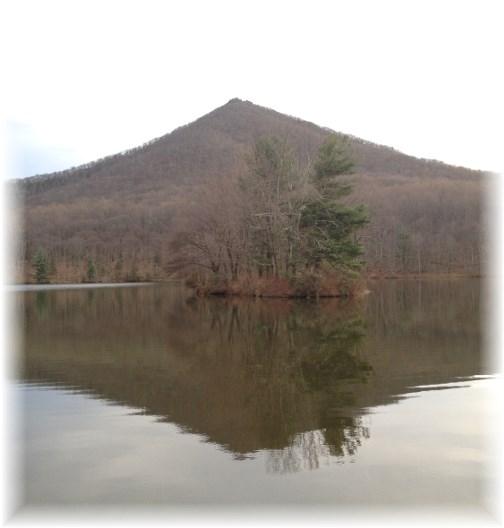 Blue Ridge Parkway mountain lake 11-25-14