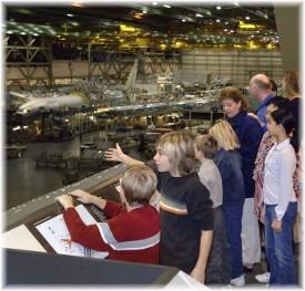 Boeing plant visit